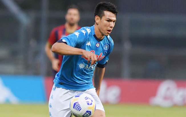 Hirving Lozano marca dos anotaciones en goleada delNapoli