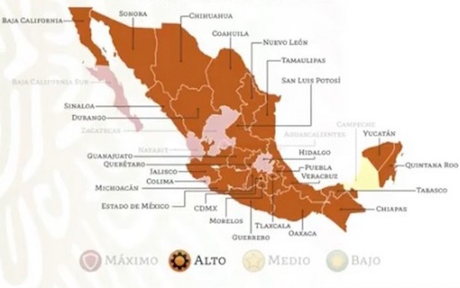 Campeche, primer estado del país en Semáforo de RiesgoAmarillo