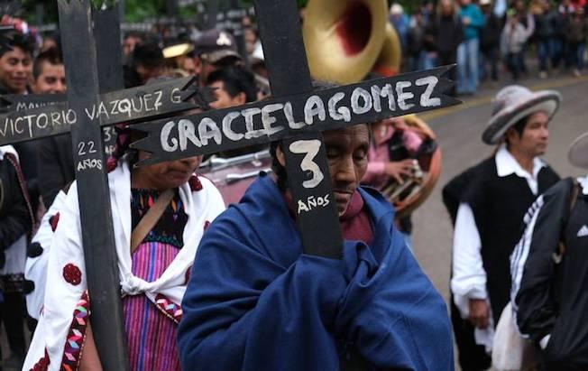 Víctimas de masacre de Acteal exigen retirar basemilitar