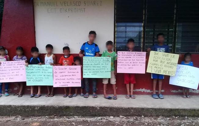 Conafe dejó sin escuela a once niños enTecpatán