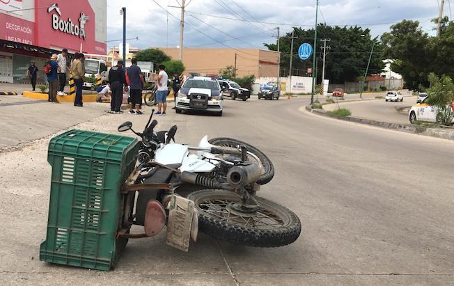 Derrapón mando a motociclista a unhospital