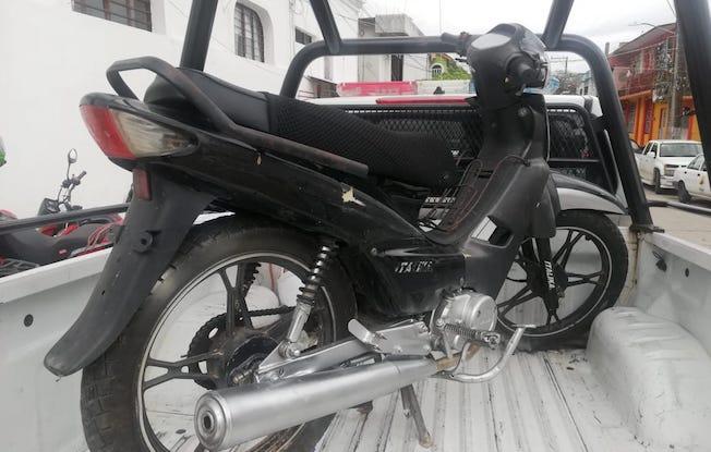 Recuperan policías moto robada enPijijiapan
