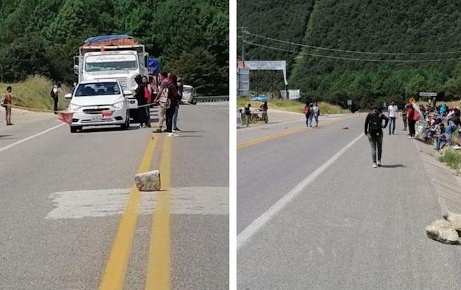 Bloquearon normalistas la autopistaTuxtla-SCLC