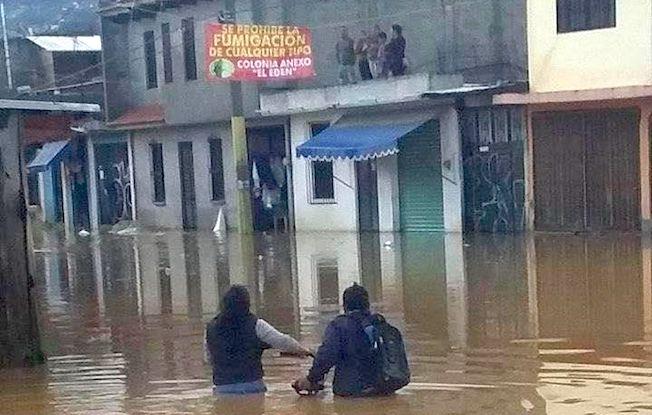 Lluvias causan inundaciones en San Cristóbal de LasCasas
