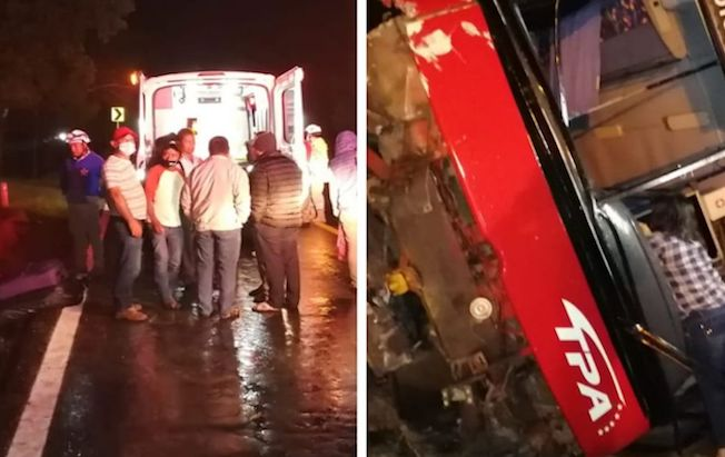 Seis heridos, saldo de volcadura de camión depasajeros