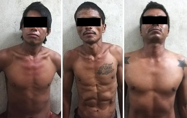 Tres detenidos con marihuana enCintalapa