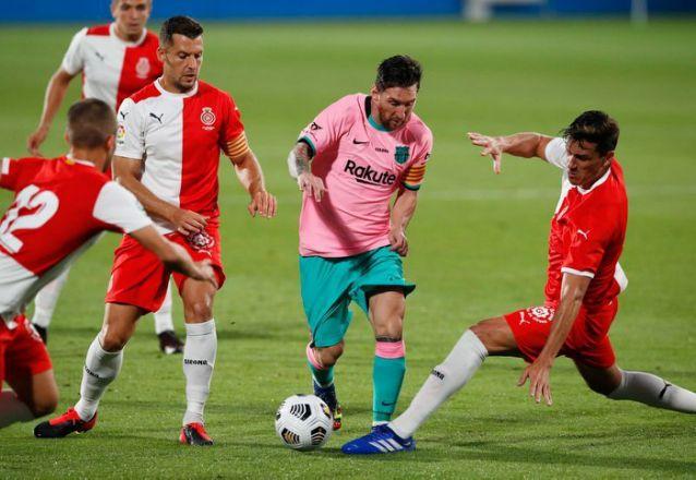 Messi anota doblete en amistoso contraGirona